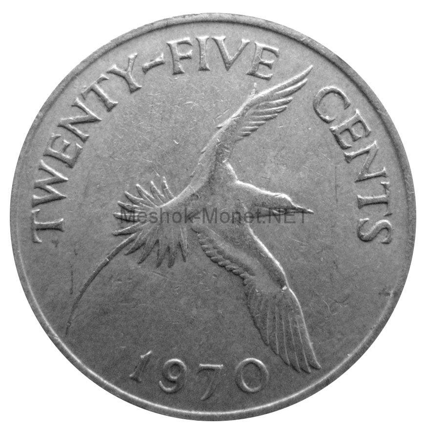Бермудские острова 25 центов 1970 г.