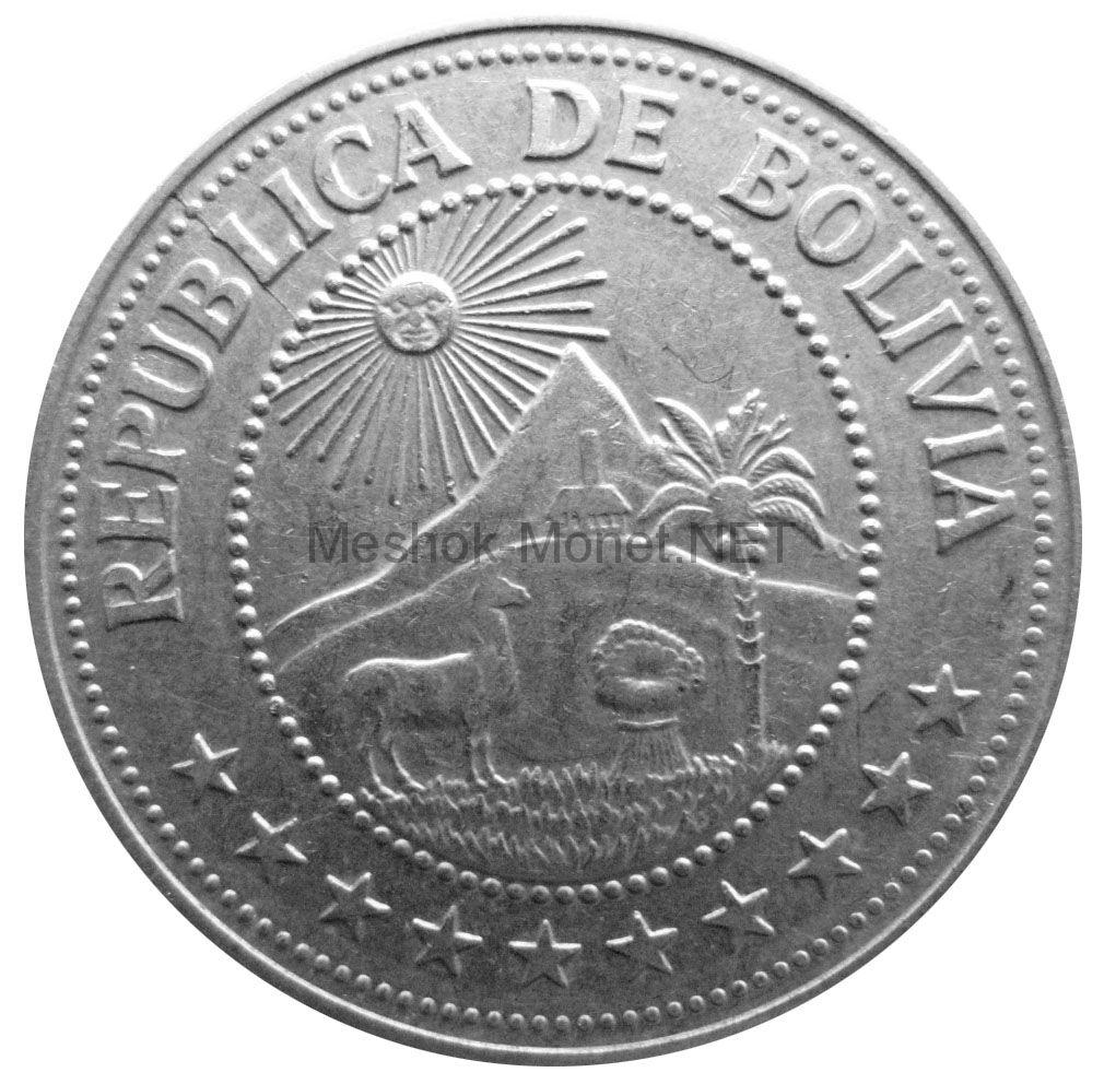 Боливия 5 песо боливано 1978 г.