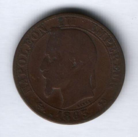 5 сантимов 1863 г.  K Франция