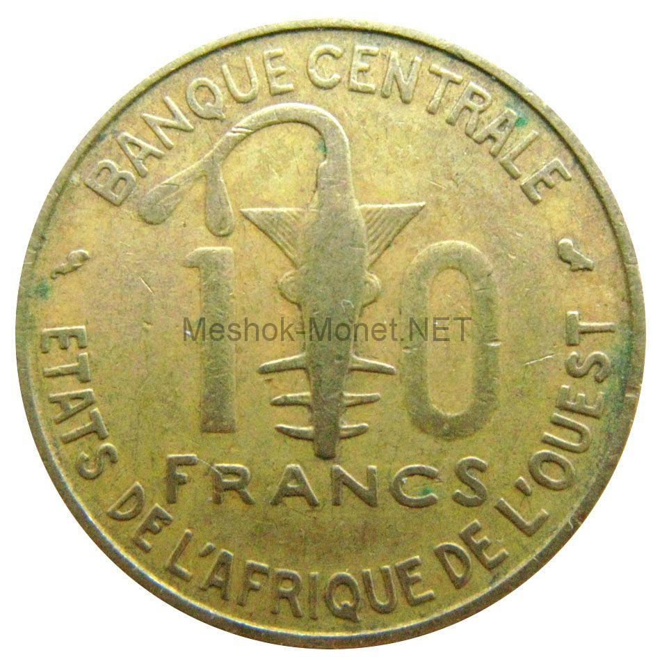 Западно-Африканский союз 10 франков 1970 г.