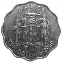Ямайка 10 долларов 2000 г.
