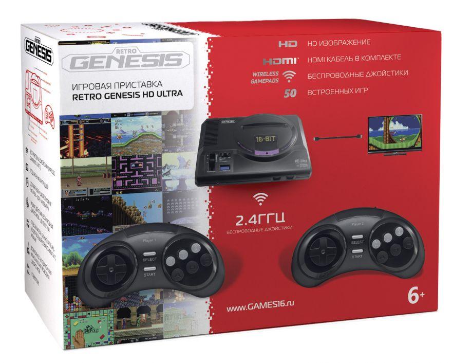 Игровая приставка Retro Genesis HD Ultra + 50 игр
