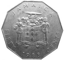 Ямайка 50 центов 1988 г.
