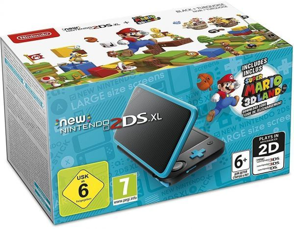 Игровая приставка New Nintendo 2DS XL (Black + Terquoise) + Super Mario 3DLand
