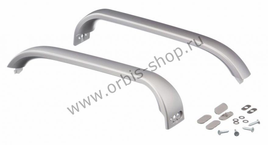 Ручки дверные для холодильника Bosch, серебро, набор 00369551 с крепежом
