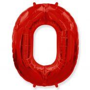"""Фигура """"0""""  (40""""/102 см) красный"""
