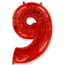 """Фигура """"9""""  (40""""/102 см) красный"""