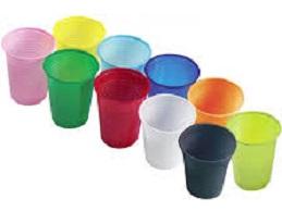 Стакан (цветной) пластиковый 200 мл (100 шт.)