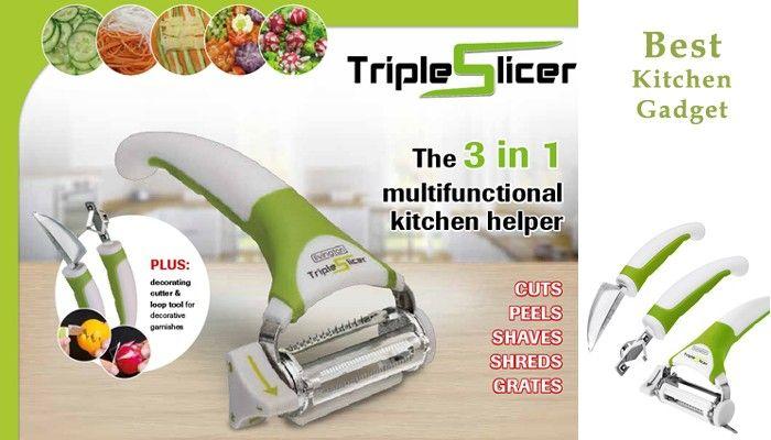 Набор Приборов Для Нарезки Овощей И Фруктов Triple Slicer 3-В-1