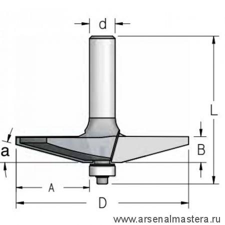 Фреза для изготовления филенки WPW 85.7x12.7x71x12 RK15002