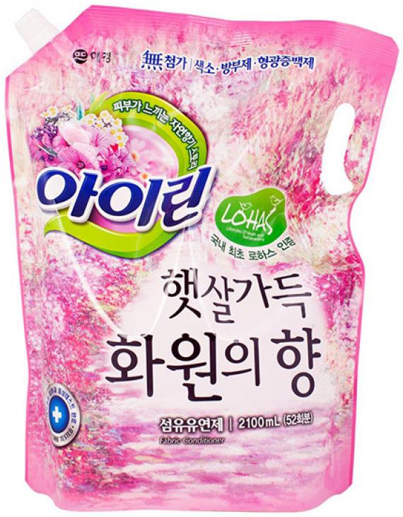 KeraSys Кондиционер для белья Айрин Цветочный сад сменный блок 2,1 л