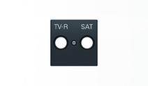 Накл. для TV-R-SAT роз. ABB SKY Чёрный бархат
