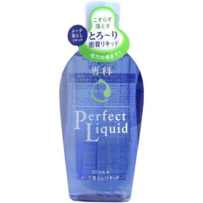 SHISEIDO SENKA Perfect Liquid Жидкость для снятия макияжа с гиалуроновой кислотой и протеинами шелка, 230 мл