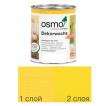Цветное масло интенсив Osmo Dekorwachs Intensive Tone 3105 Желтый 0,375 л