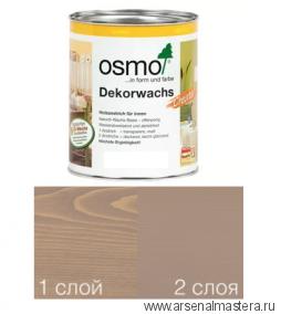 Масло цветное интенсив Osmo Dekorwachs Intensive Tone 3132 Серо-бежевый 0,75 л