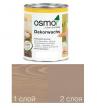 Масло цветное интенсив Osmo Dekorwachs Intensive Tone 3132 Серо-бежевый 0,125 л