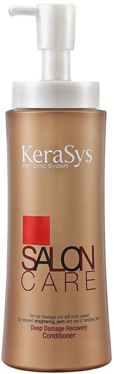 KeraSys Кондиционер для волос Салон Кэр Интенсивное Восстановление с дозатором 600 мл