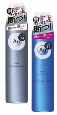 SHISEIDO Ag DEO24 Мужской спрей дезодорант-антиперспирант с ионами серебра 100 гр.