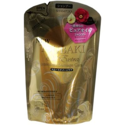 """""""SHISEIDO"""" """"TSUBAKI Oil Extra"""" Бессиликоновый  шампунь для восстановления поврежденных волос, насыщенный  маслом камелии  330 мл мягкая упаковка"""
