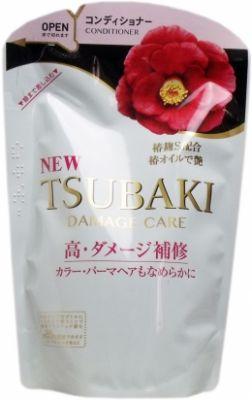 SHISEIDO TSUBAKI Damage Care Шампунь для поврежденных волос с маслом камелии 345 мл мягкая упаковка