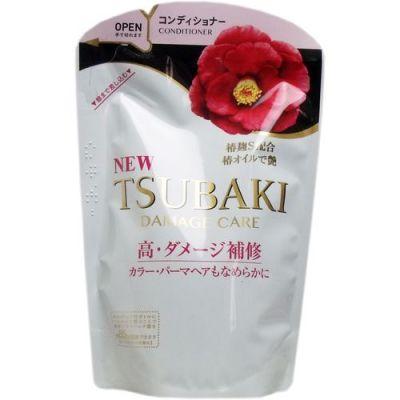SHISEIDO TSUBAKI Damage Care Кондиционер для поврежденных волос с маслом камелии  345 мл мягкая упаковка