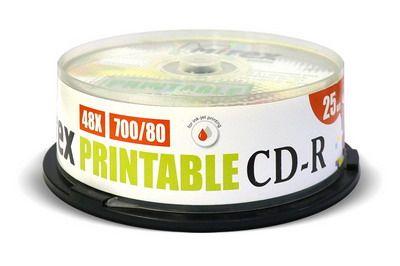 CD-R Mirex printable inkjet 700 Мб 48x Cake box /25