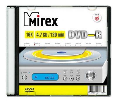 DVD-R Mirex 4,7 Гб 16x Slim case /1