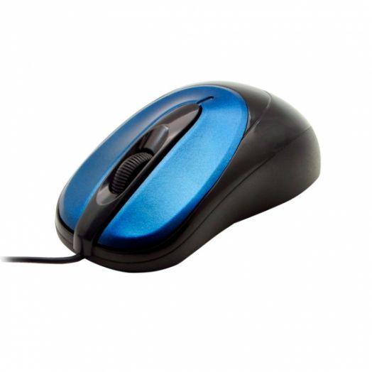 Мышь проводная OXION OMS002BL синяя