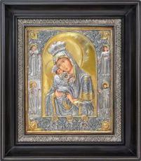 Почаевская икона БМ (31х34), серебро