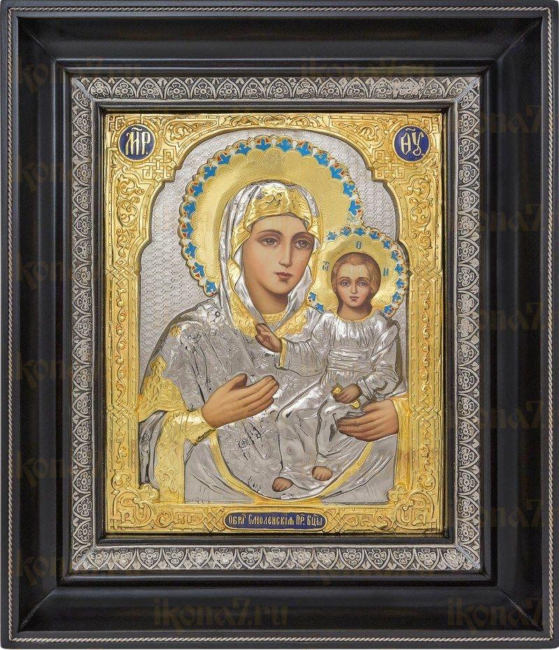 Смоленская икона БМ (26х31), серебро