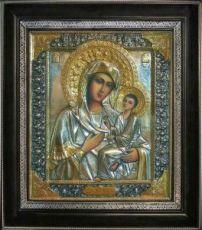 Тихвинская икона БМ (31х35), серебро