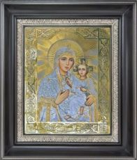 Тихвинская икона БМ (27х31), серебро