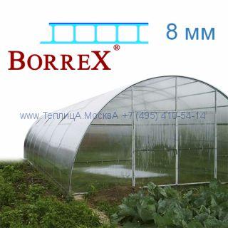Теплица Фермер 5.6 х 36 с поликарбонатом 8 мм BorreX