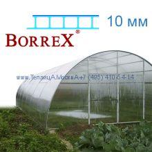 Теплица Фермер 5.6 х 28 с поликарбонатом 10 мм BorreX