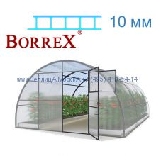 Теплица 12 месяцев 4 х 6 с поликарбонатом 10 мм BorreX