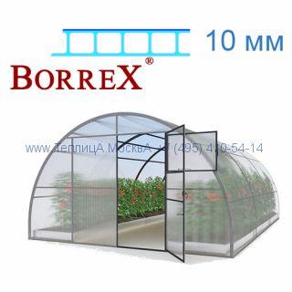 Теплица 12 месяцев 4 х 10 с поликарбонатом 10 мм BorreX