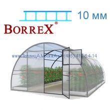Теплица 12 месяцев 4 х 12 с поликарбонатом 10 мм BorreX