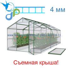 Теплица Домиком 2,5 х 6 с поликарбонатом 4 мм Polygal