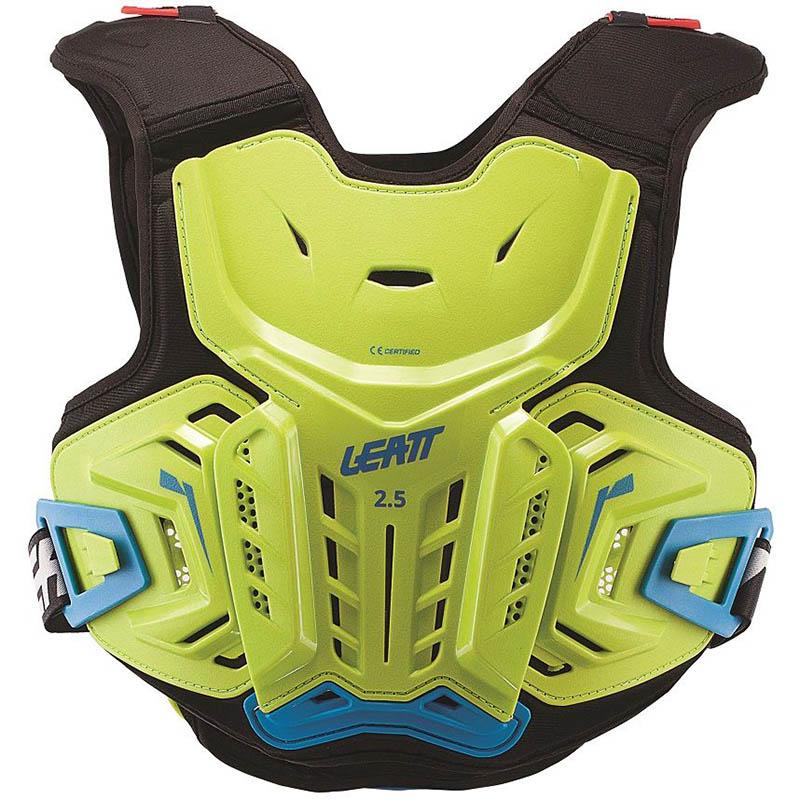 Leatt Chest Protector 2.5 Junior Lime/Blue защита торса подростковая, зелено-синяя