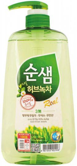 KeraSys Средство для мытья посуды Сунсэм Зелёный чай с дозатором 1000 мл