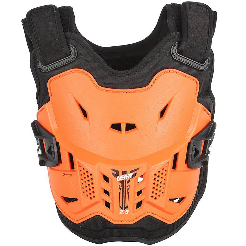 Leatt - 2018 Chest Protector 2.5 Kids Orange/Black защитный жилет детский, оранжево-черный