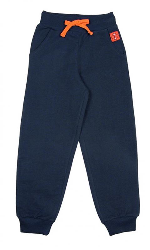Темно-синие брюки для мальчика с карманами