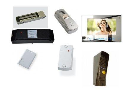 КСКДВ-15 Комплект системы контроля доступа с видеодомофоном для 1-ой двери весом до 450 кг.