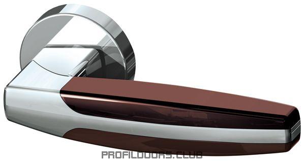 Ручка раздельная ARC URB2 CP/CP/Brown-16
