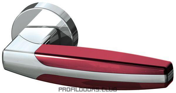 Ручка раздельная ARC URB2 СР/СР/Bordo-15