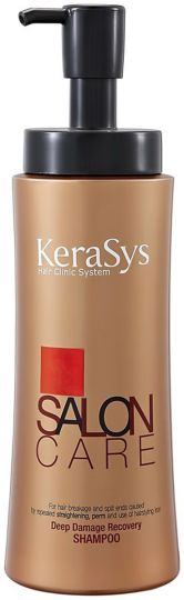 KeraSys Шампунь для волос Салон Кэр Интенсивное Восстановление с дозатором 600 г