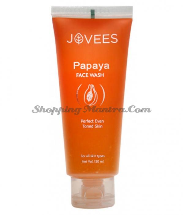 Гель для умывания Папайя Джовис   Jovees Natural Papaya Face Wash