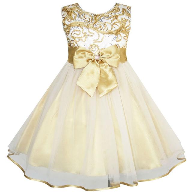 Купить Платье Для Девочки Золотого Цвета