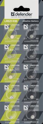 Распродажа!!! Батарейка алкалиновая LR621-10B AG1, в блистере 10 шт