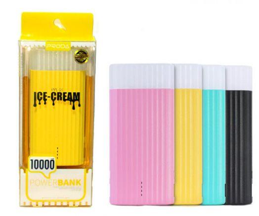 Портативный аккумулятор Power Bank Proda Ice Cream белый (10 000 mAh)